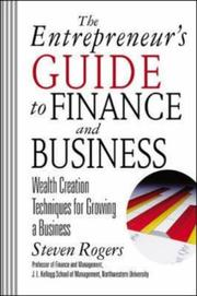 Cover of: The Entrepreneur's Guide to Finance & Business | Steven Rogers