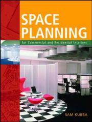 Cover of: Space Planning for Commercial and Residential Interiors | Sam Kubba