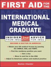 Cover of: First Aid for the International Medical Graduate by Keshav Chander