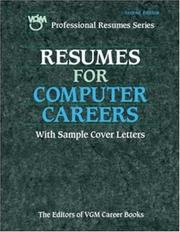 Cover of: Resumes for Computer Careers by The Editors of VGM Career Books