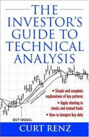 Cover of: The Investor's Guide to Technical Analysis by Curt Renz