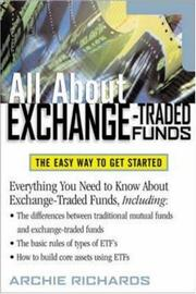 Cover of: All about Exchange Traded Funds by Jr., Archie Richards