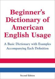 Cover of: Beginner's Dictionary of American English Usage by Peter Collin