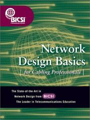 Cover of: Network Design Basics for Cabling Professionals | BICSI