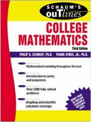 Cover of: Schaum's outline of theory and problems of college mathematics by Ayres, Frank