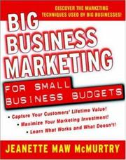 Cover of: Big Business Marketing For Small Business Budgets | Jeanette Maw McMurtry