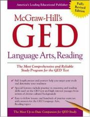 Cover of: McGraw-Hill's GED Language Arts, Reading | John Reier
