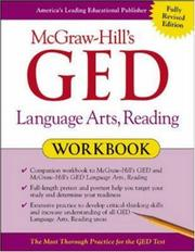Cover of: McGraw-Hill's GED Language Arts, Reading Workbook | John Reier