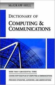 Cover of: McGraw-Hill Dictionary of Computing & Communications | The McGraw-Hill Companies