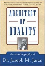 Cover of: Architect of Quality | J.M. Juran