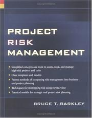 Cover of: Project risk management by Bruce Barkley
