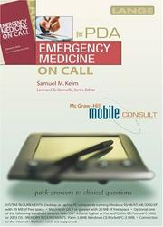 Cover of: Emergency Medicine On Call PDA | Samuel M. Keim