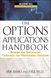Cover of: The Options Applications Handbook by Erik Banks