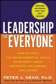 Cover of: Leadership for Everyone by Peter J. Dean