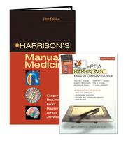 Cover of: Harrison's Manual of Medicine 16/e for PDA (Harrison's Manual of Medicine) by Dennis L. Kasper