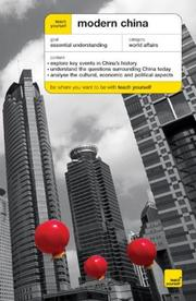 Cover of: Teach Yourself Modern China by Michael L. Lynch