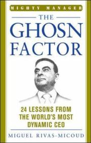Cover of: The Ghosn Factor (The Mighty Manager's Handbooks) | Miguel Rivas-Micoud