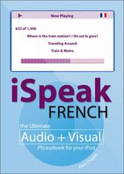 Cover of: iSpeak French | Alex Chapin