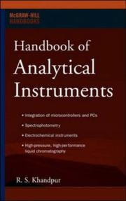Cover of: Handbook of Analytical Instruments (Professional Engineering) | R S Khandpur