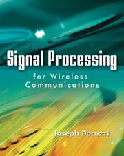 Cover of: Signal Processing for Wireless Communications by Joseph Bocuzzi