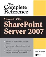 Cover of: Microsoft® Office SharePoint® Server 2007 | David Sterling