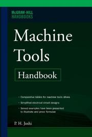 Cover of: Machine Tools Handbook by P H Joshi