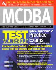 Cover of: MCDBA SQL Server 7 Test Yourself Practice Exams (Exams 70-028 & 70-029) | Syngress Media