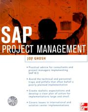 Cover of: SAP Consulting and Project Management | Joy Ghosh