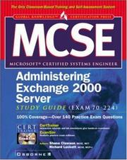 Cover of: MCSE administering Exchange 2000 server study guide (exam 70-224) | Shane Clawson