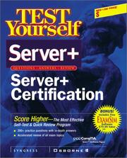 Cover of: Test Yourself Server+ Certification (Test Yourself) by Pawan K. Bhardwaj
