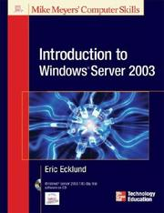Cover of: Introduction to Windows® Server 2003 by Eric Ecklund