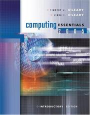 Cover of: Computing Essentials 2005 Intro Edition w/ Student CD | Timothy J O'Leary