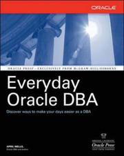Cover of: Everyday Oracle DBA | April J. Wells