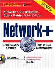 Cover of: Network + Certification Study Guide, Third Edition (Certification Study Guides) | Glen E. Clarke