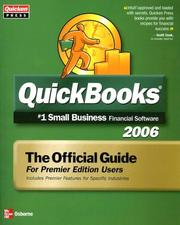 Cover of: Quickbooks 2006 The Official Guide for Premier Edition Users | QUicken Press