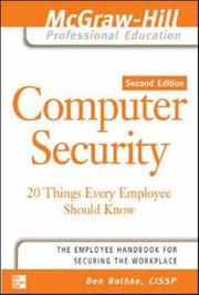 Cover of: Computer Security | Ben Rothke