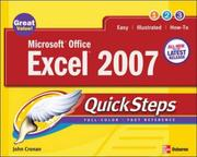 Cover of: Microsoft Office Excel 2007 QuickSteps (Quicksteps) by John Cronan