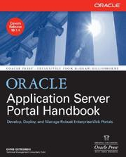 Cover of: Oracle Application Server Portal Handbook | Chris Ostrowski