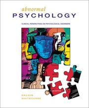 Cover of: Abnormal Psychology by Richard P.; Whitbourne, Susan Krauss Halgin