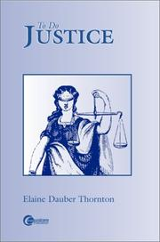 Cover of: To Do Justice | Elaine Dauber Thornton
