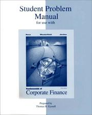 Cover of: Fundamentals to Corporate Finance | Stephen A Ross