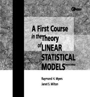 Cover of: Linear Statistical Models | Raymond H. Myers