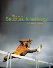 Cover of: Manual of Structural Kinesiology by Clem W.; Floyd, R. T. Thompson