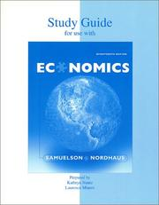Cover of: Study Guide t/a Economics by SAMUELSON