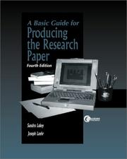 Cover of: Basic Guide for Producing a Research Paper | Sandra Lakey