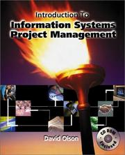 Cover of: Introduction to Information Systems Project Management with CD-Rom Mandatory Package | David Louis Olson