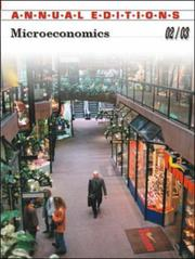 Cover of: Annual Editions Microeconomics 2002-2003 | Don Cole