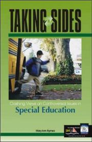 Cover of: Taking Sides: Clashing Views on Controversial Issues in Special Education (Taking Sides: Special Education) | Mary Ann Byrnes