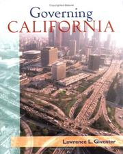 Cover of: Governing California | Lawrence Giventer