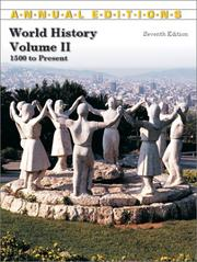 Cover of: World History: 1500 To the Present (Annual Editions : World History Vol 2) | David McComb
